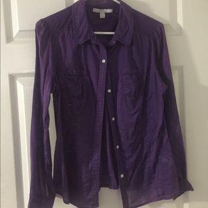 Purple Button-up Blouse